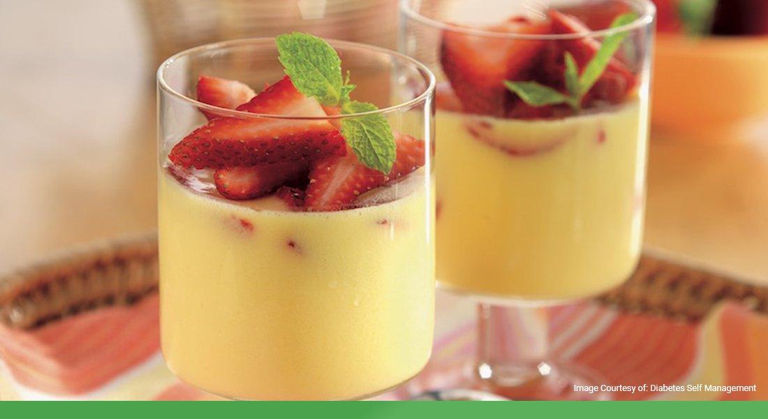 Diabetic-Friendly Drink: Summer Strawberry Orange Cups