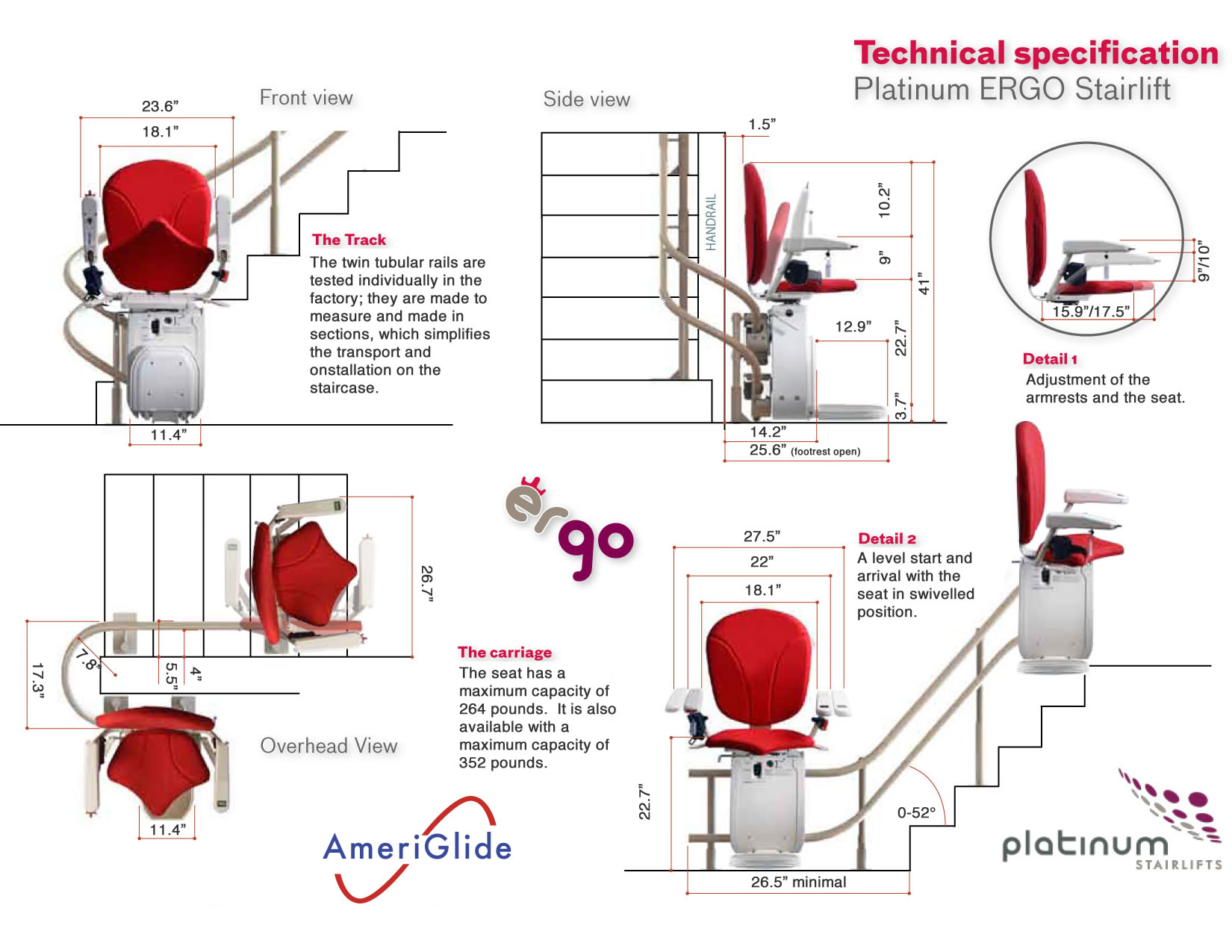 Ameriglide Platinum Stair Lift Curved Stairlifts