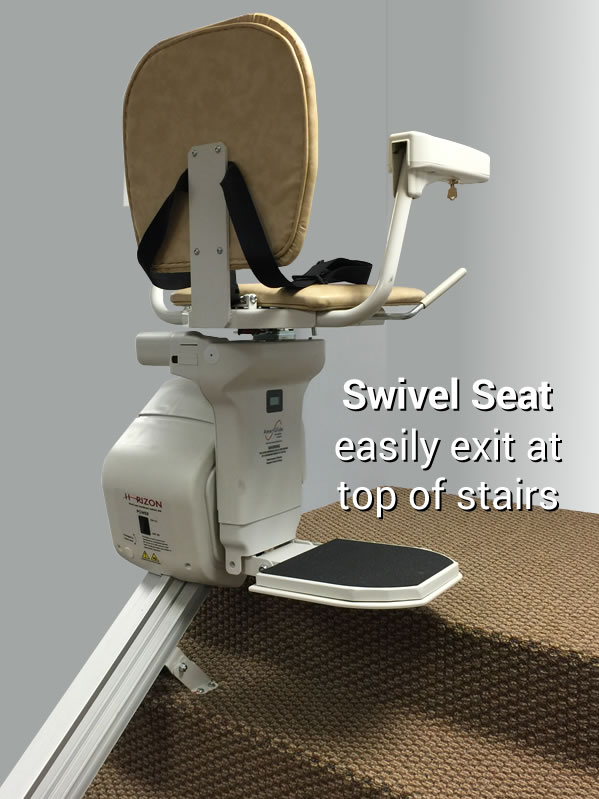 Chair Rail Orientation Part - 37: AmeriGlide Horizon Standard Stair Lift-Factory Reconditioned
