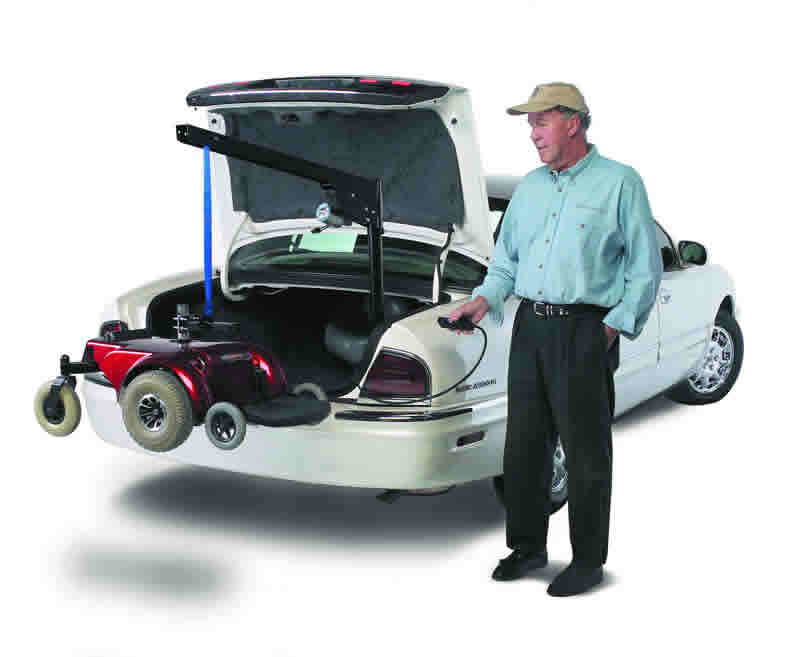 scooter lifts economy inside lift rh ameriglide com Swing Away Scooter Lifts Manual Wheelchair Lifts for Cars