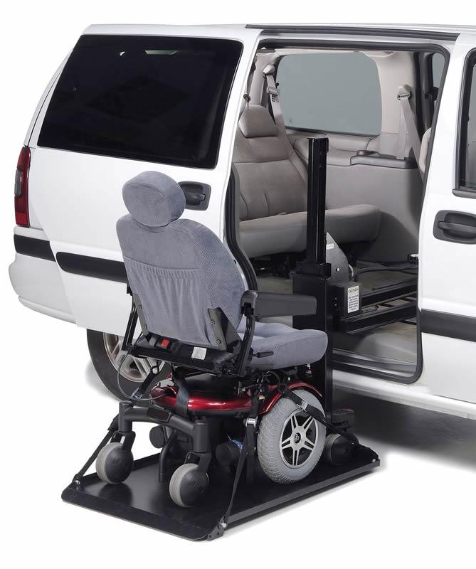 Side loading hybrid platform lift for Motorized wheelchair lifts for cars