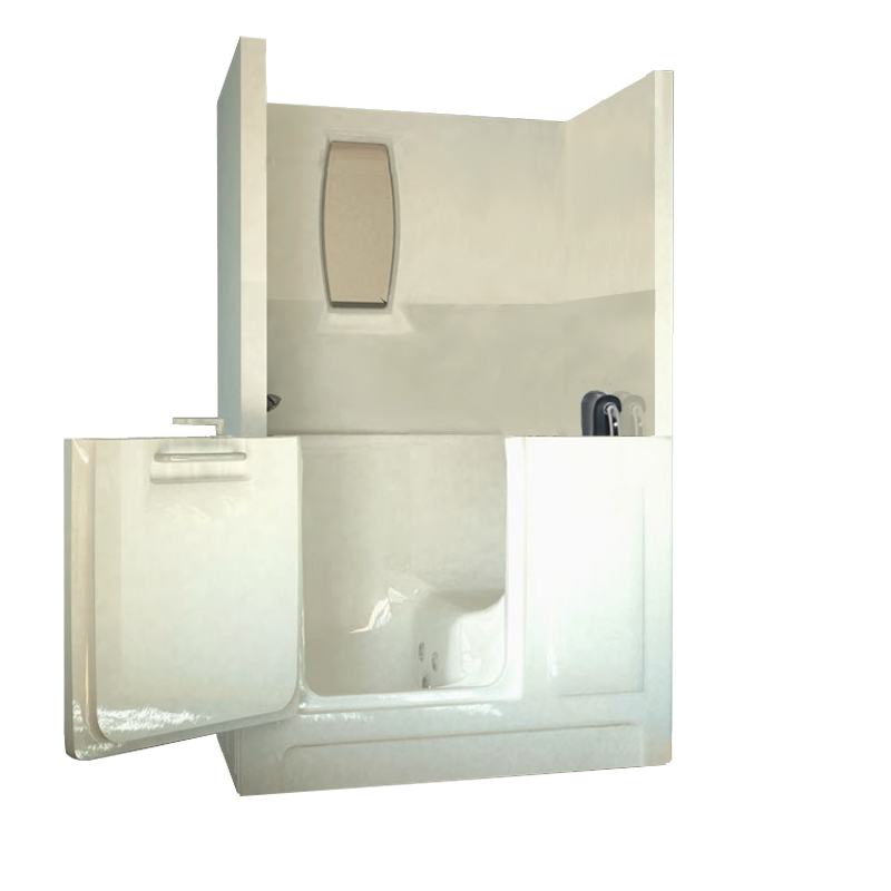 two piece shower tub unit. Sanctuary Medium Shower Enclosure Walk In Tub Tubs  Bathtub Conversion Kits AmeriGlide Accessibiility