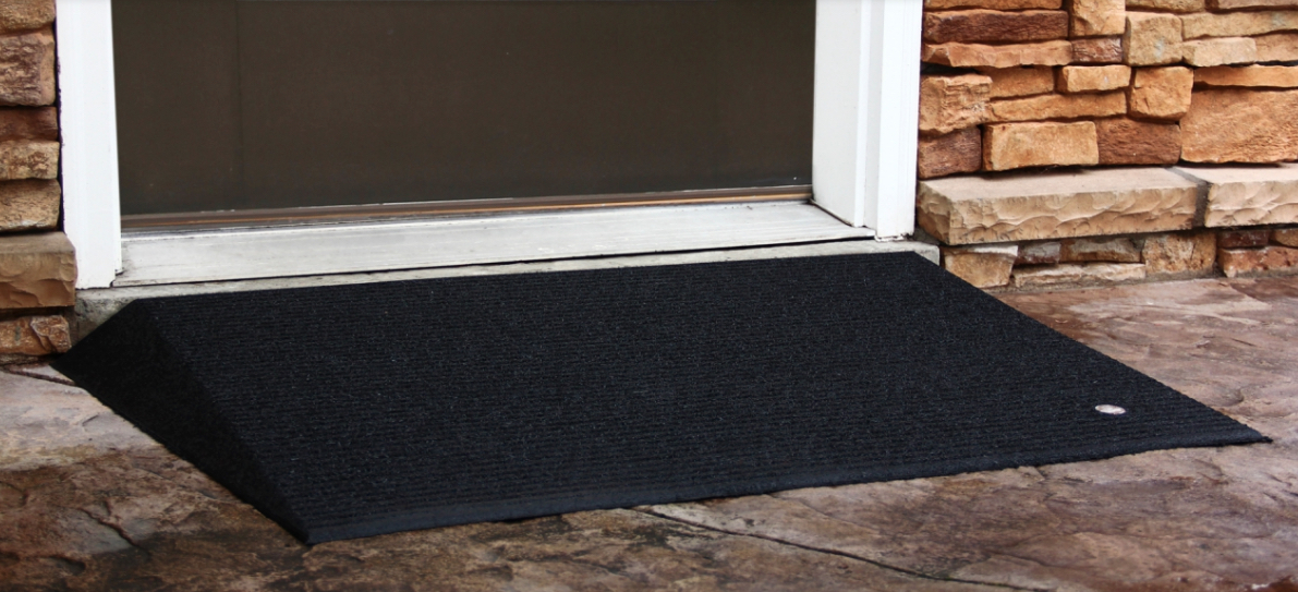 2 5 Quot Tall Rubber Threshold Ramp Box Of 2 Wheelchair Ramps