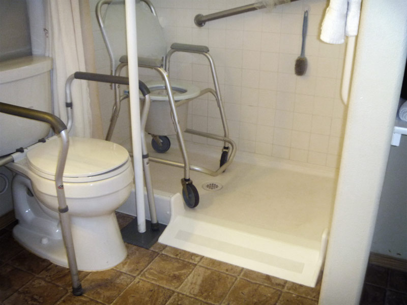 barrier free shower conversion kit by ameriglide self installation
