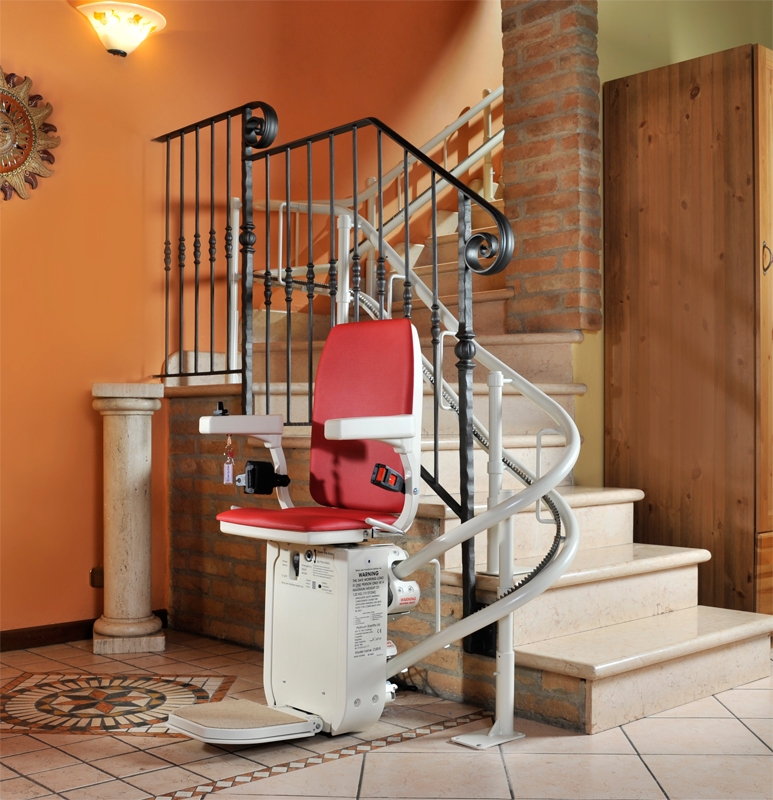 Wheelchair Stair Lifts : Ameriglide platinum hd stair lift curved stairlifts