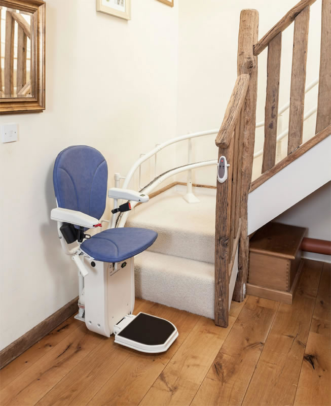 AmeriGlide Platinum Curved Stair Lift : chair lift stair - Cheerinfomania.Com