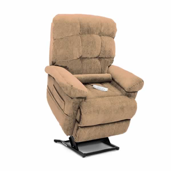 Shown in Crypton Aria Sand with Included Lumbar Pillow
