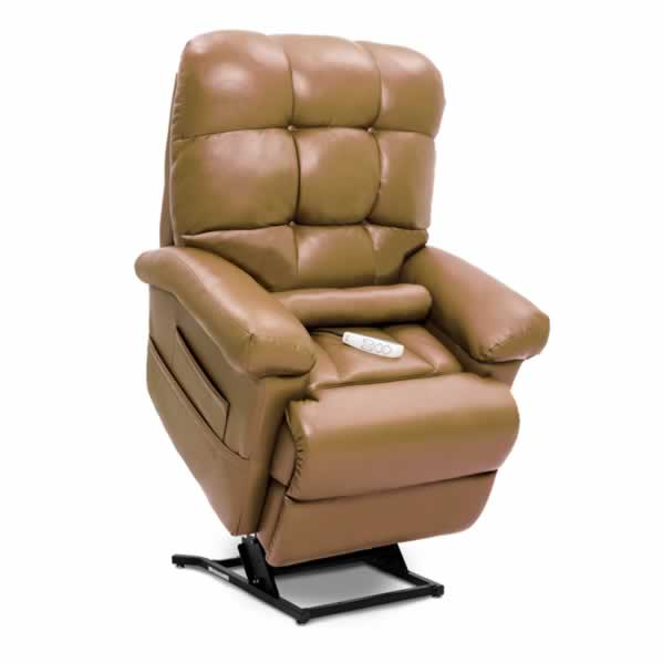 Shown in Ultraleather Pecan with Included Lumbar Pillow